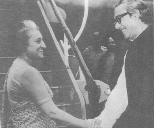 Pic 7.1 Bangabandhu and Indian Prime Minister