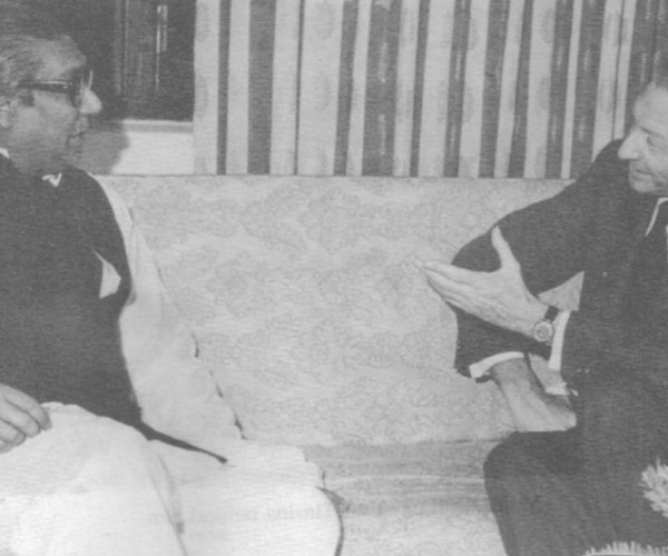 Bangabandhu and UN Secretary General Kurt Waldheim, Dhaka 1973 (From Rebel to Founding Father)